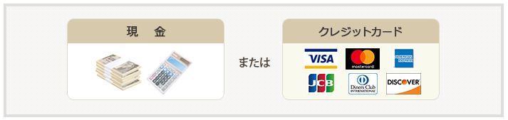 現金orクレジットカード